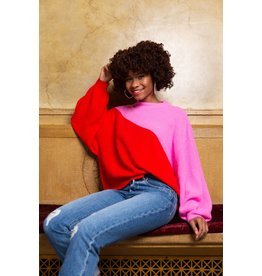 Crosby By Mollie Burch Miller Sweater Mollie Pink/Ruby