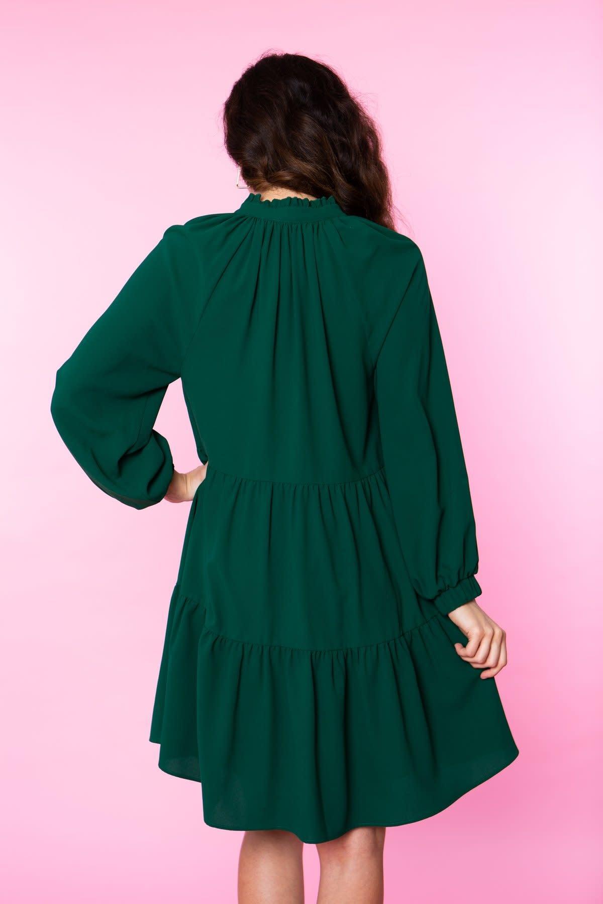Crosby By Mollie Burch Belle Dress in Emerald