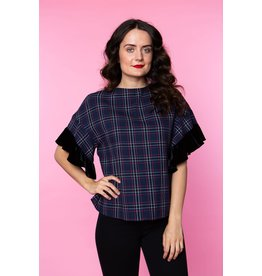 Crosby By Mollie Burch Maeve Top in Tartan