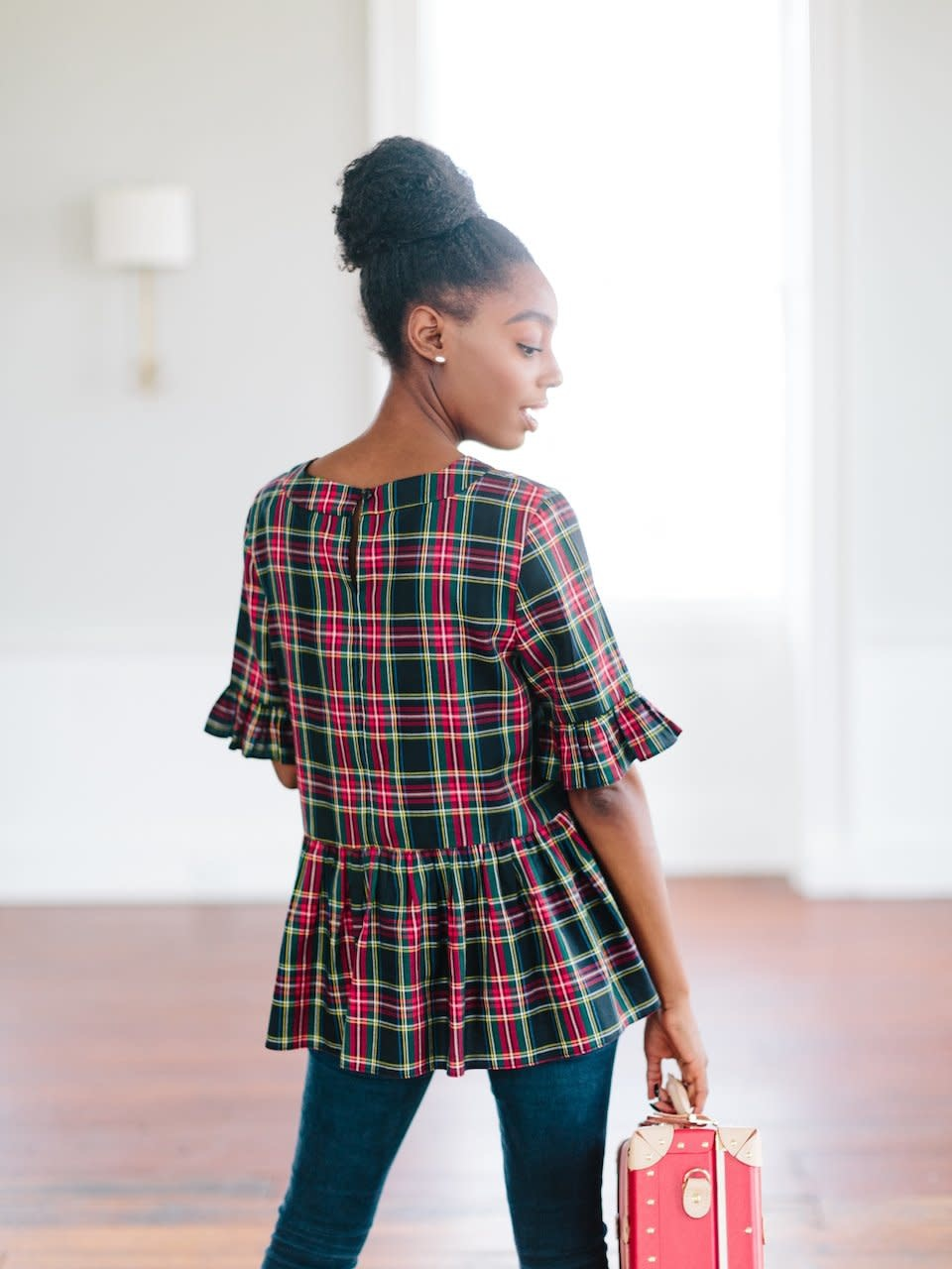 La Roque Betty B Top in Plaid