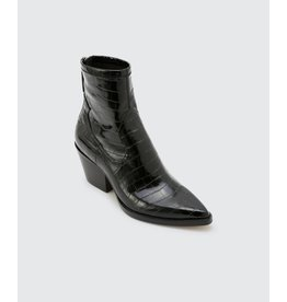 Dolce Vita Shanta Booties in Black Croco