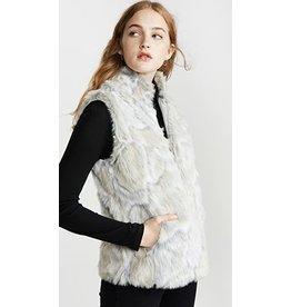 Jack by BB Dakota In A furry Ivory Faux Fur Vest