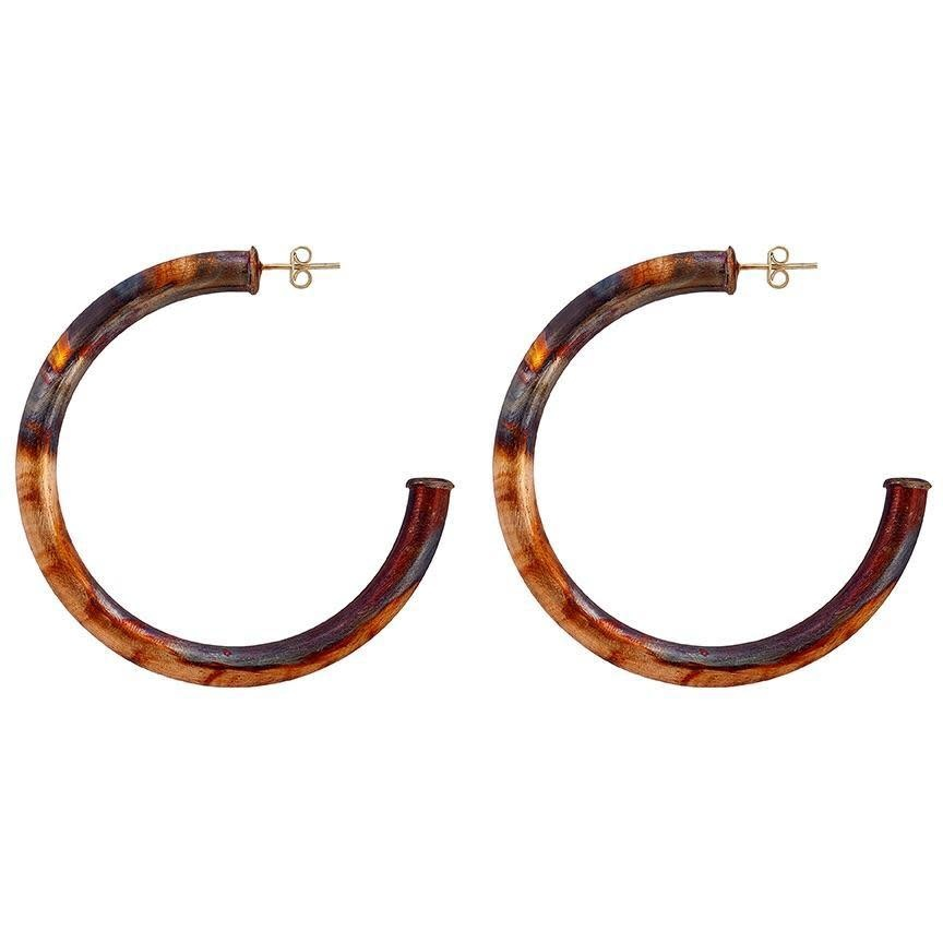 Sheila Fajl Petite Everybody's Favorite Hoops Gold Burnished