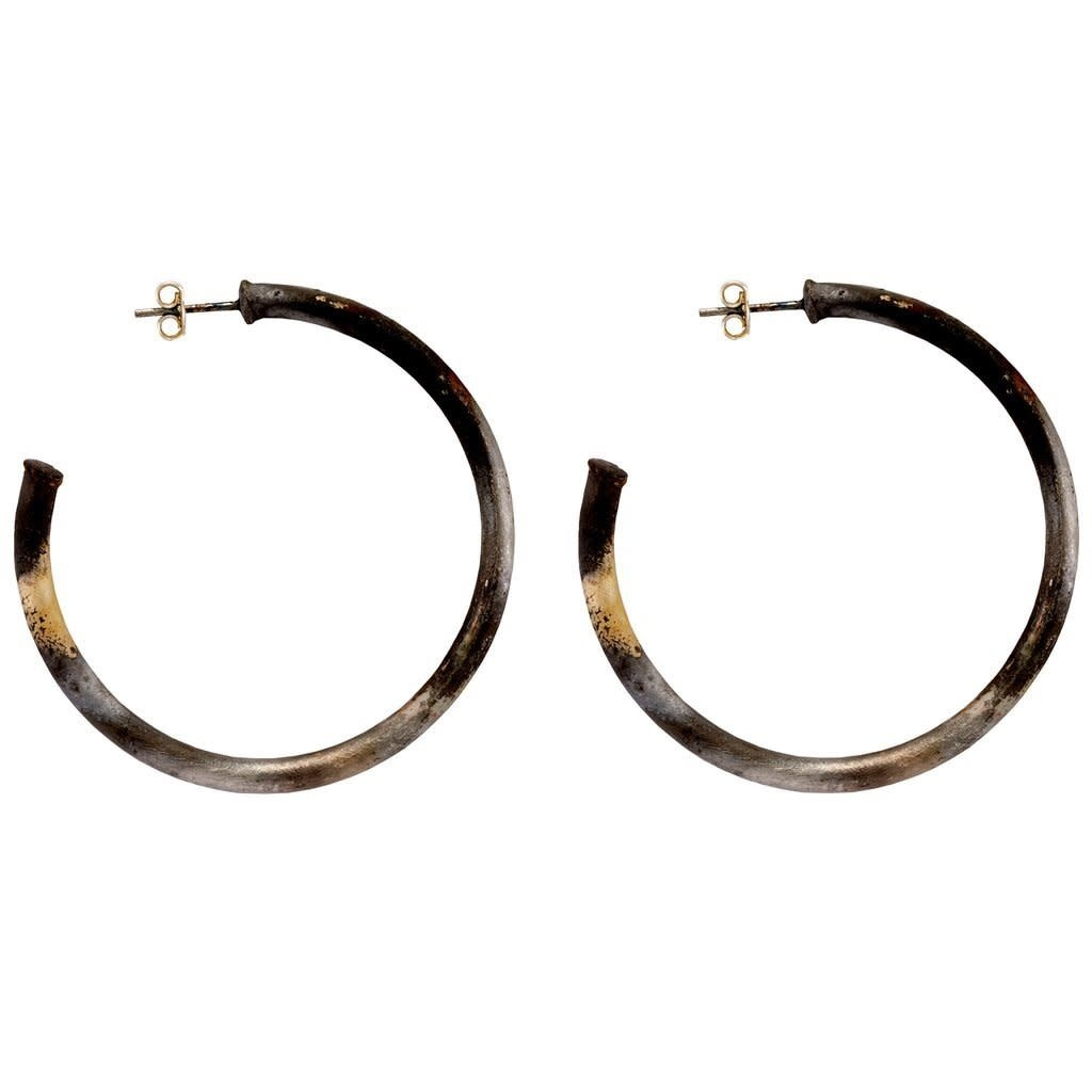 Sheila Fajl Petite Everybody's Favorite Hoops Silver Burnished