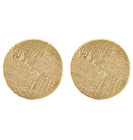 Sheila Fajl Blair Circle Earrings Gold