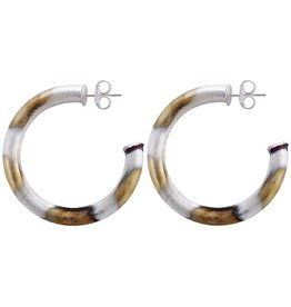 Sheila Fajl Chantal Hoops Silver Burnished