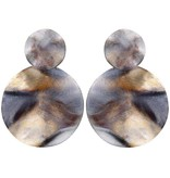 Sheila Fajl Isola Earrings Burnished Silver