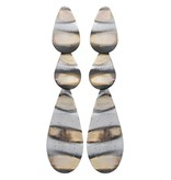 Sheila Fajl Millie Teardrops Earrings Burnished Silver