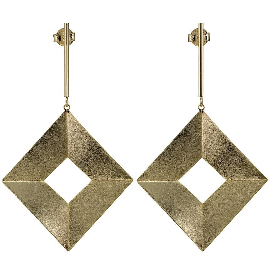 Sheila Fajl Quadro Earrings Gold