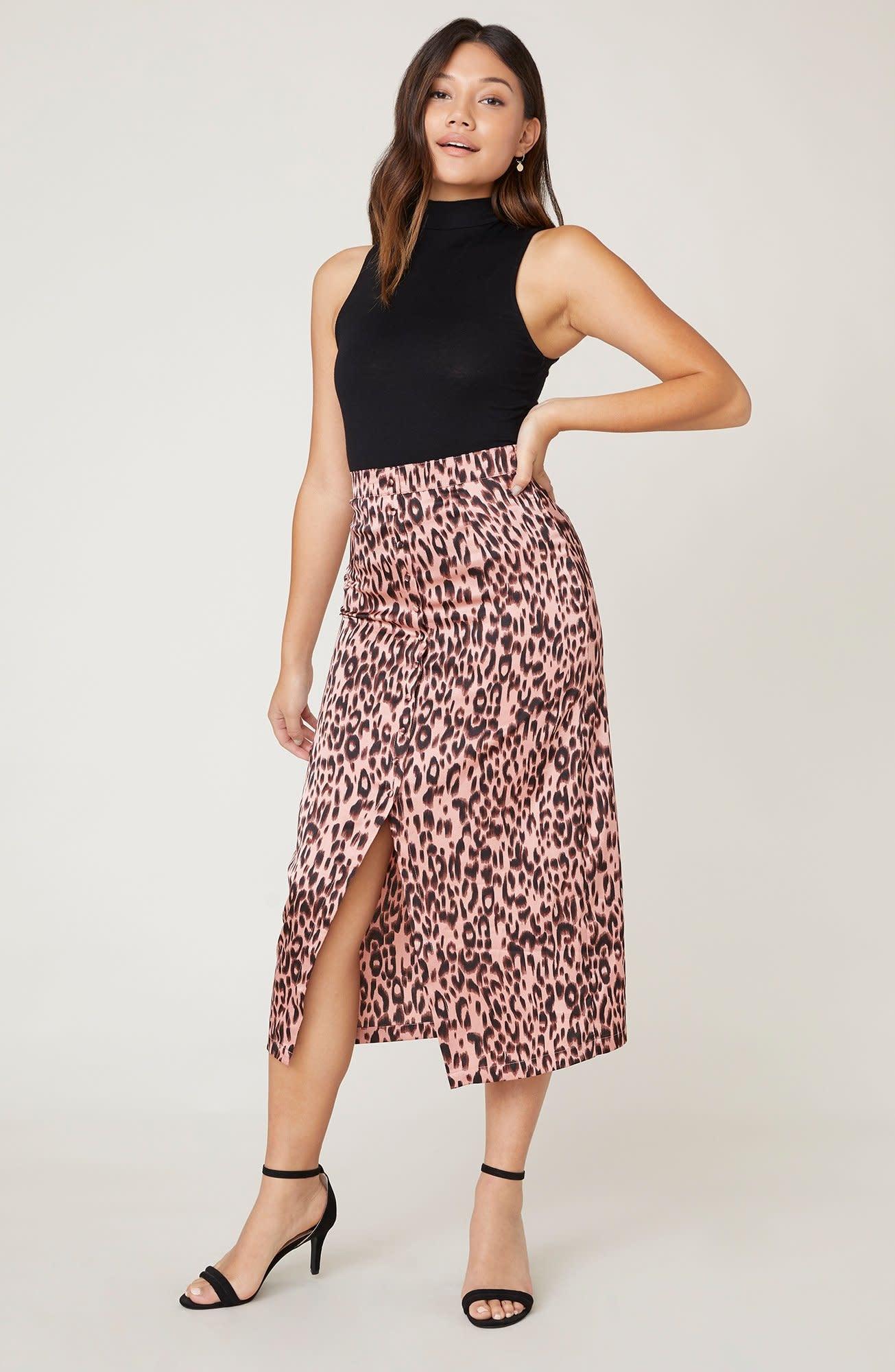 Jack by BB Dakota Spotty By Nature Leopard Midi Skirt