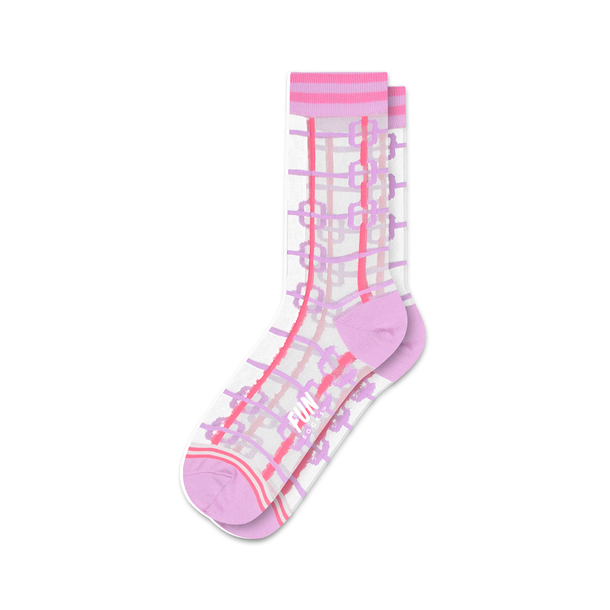 Fun Socks Chain Link Sheer Socks