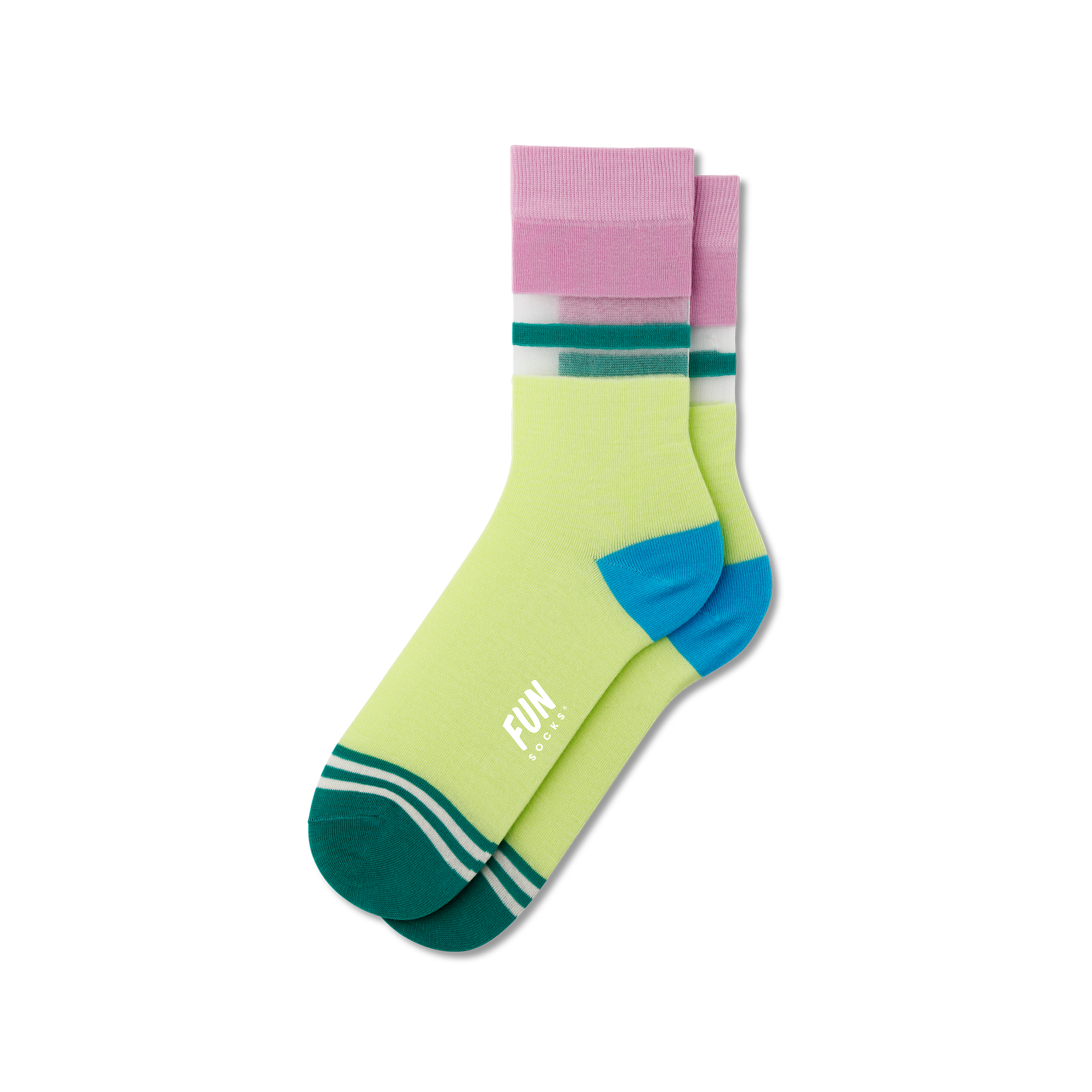 Fun Socks Women's Stripe Sheer Socks