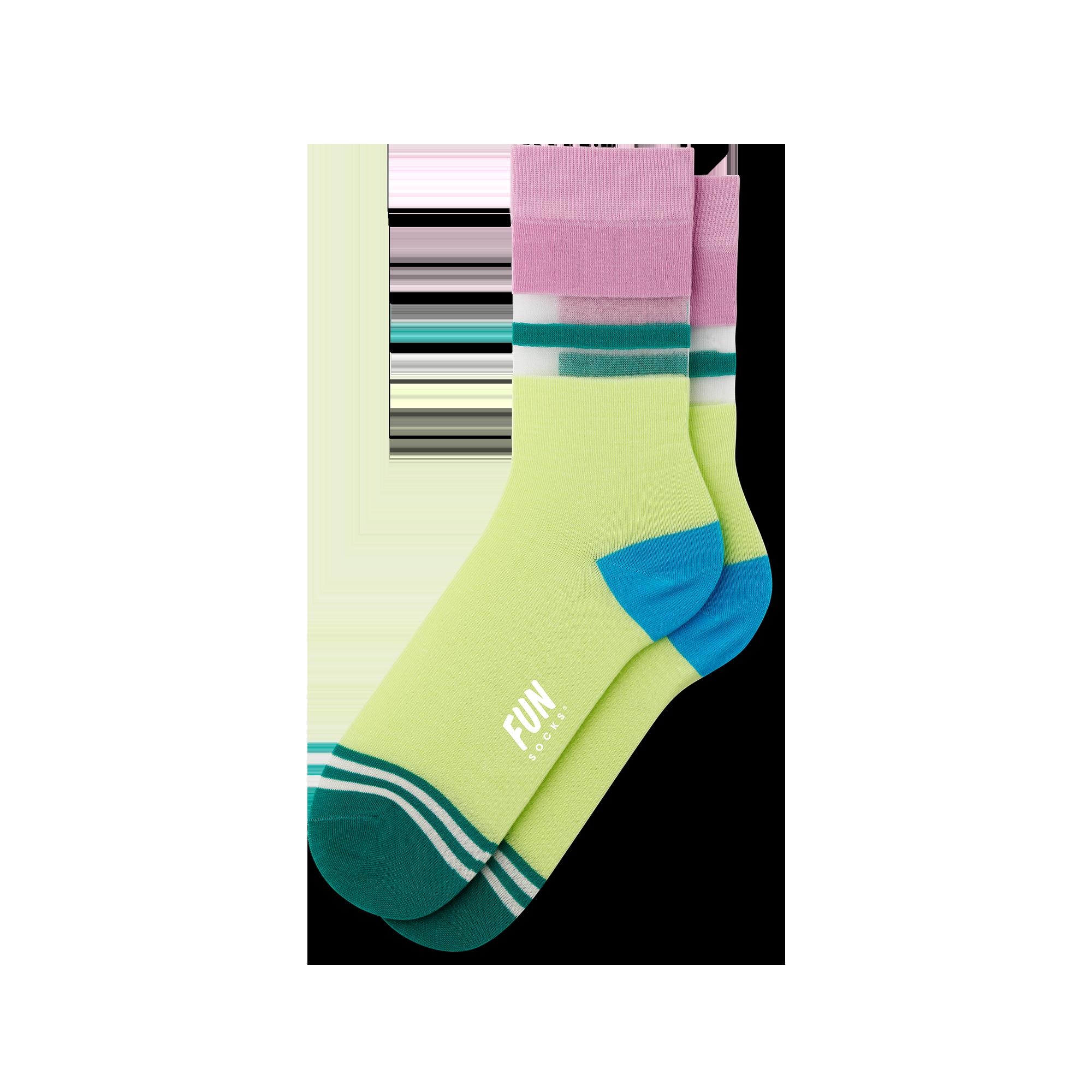 Women's Stripe Sheer Socks