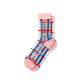 Fun Socks Women's Plaid Sheer Socks