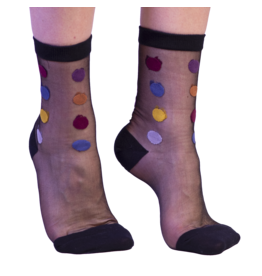 Fun Socks Hoover Black Sheer Sock