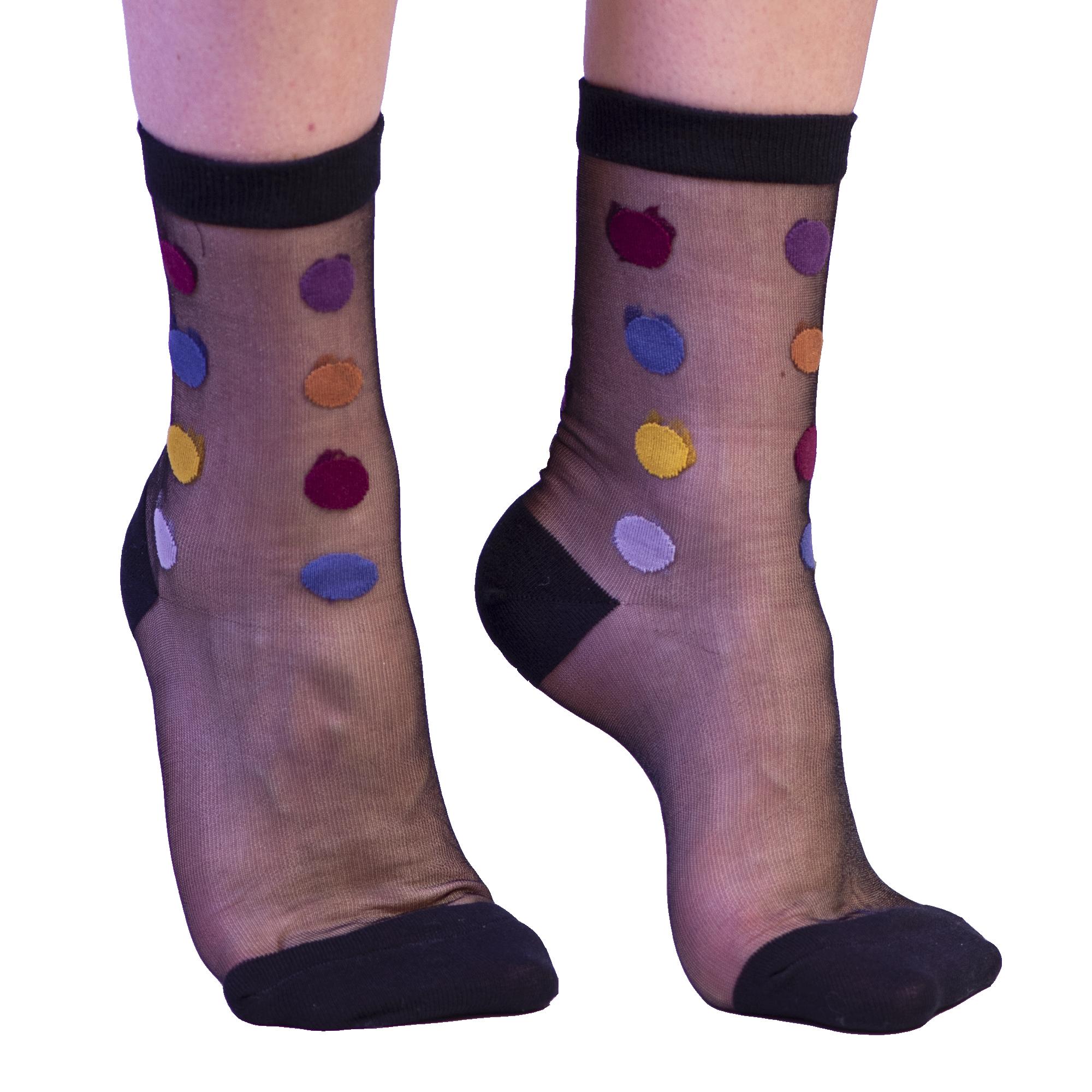 Hoover Black Sheer Sock