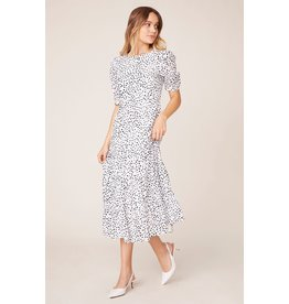 BB Dakota Something About Dots Tiered Midi Dress