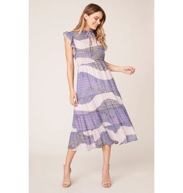 BB Dakota All Mixed Up Lavender Midi Dress