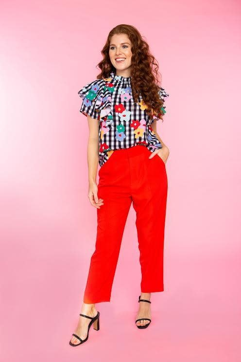 Crosby By Mollie Burch Emory Top in Garden Gingham