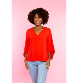 Crosby By Mollie Burch Andi Blouse in Tomato