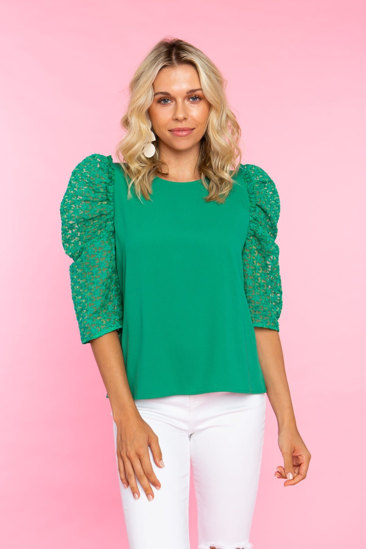 Crosby By Mollie Burch Lurie Top in Clover
