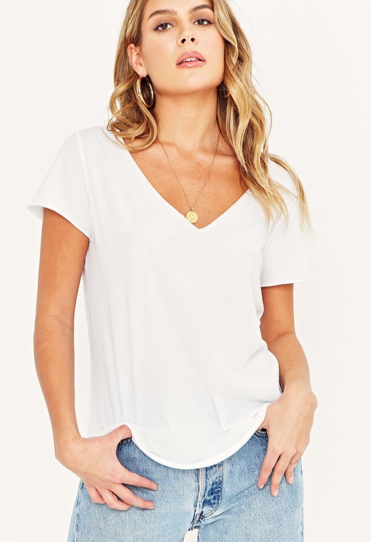 Project Social T Moved on Tee White