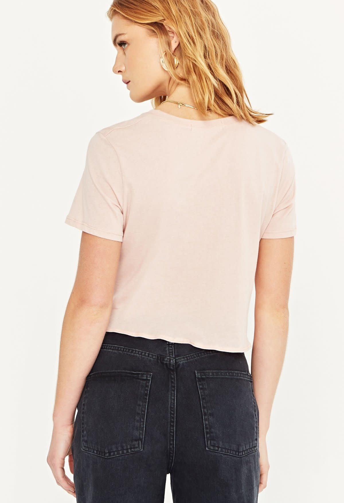 Project Social T Always Forever Twist Tee Cameo Rose