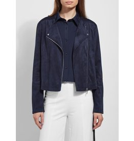Lysse Essential Suede Jacket True Navy