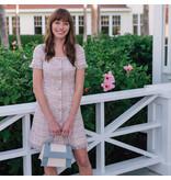 Stacey Pink Tweed Dress