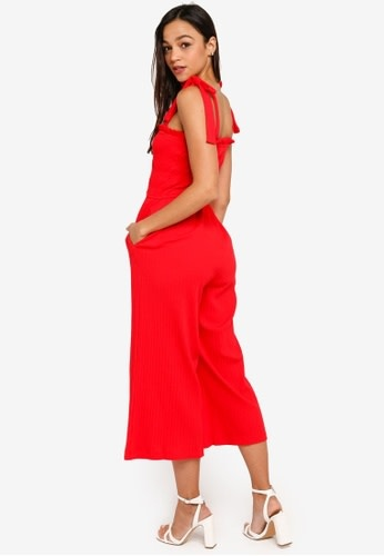 MINKPINK Kyla Shirred Crop Jumpsuit