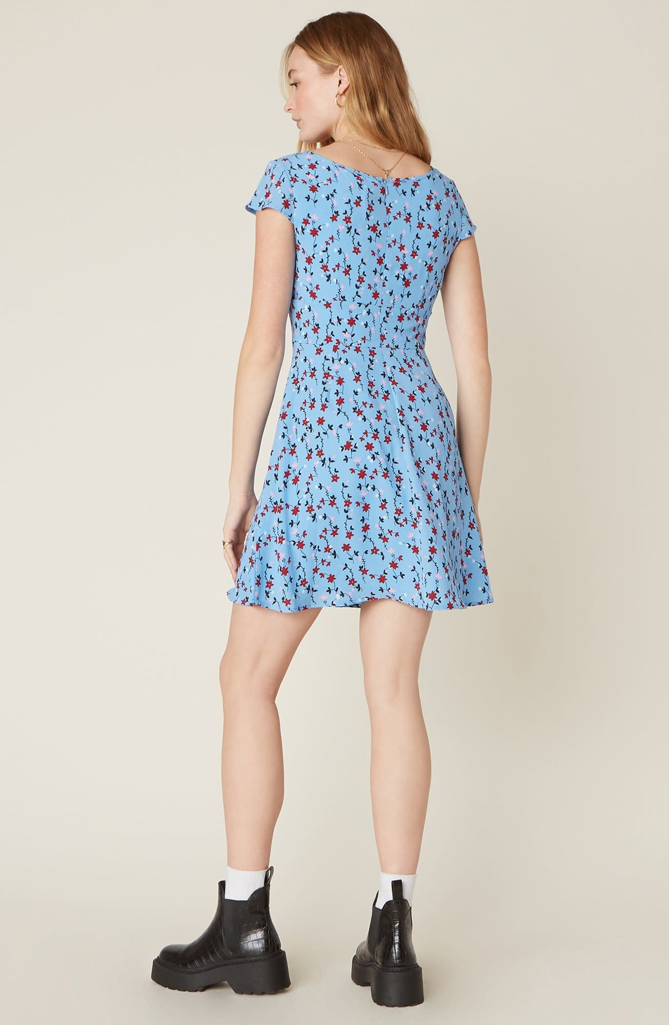 BB Dakota La Femme Floral Mini Dress