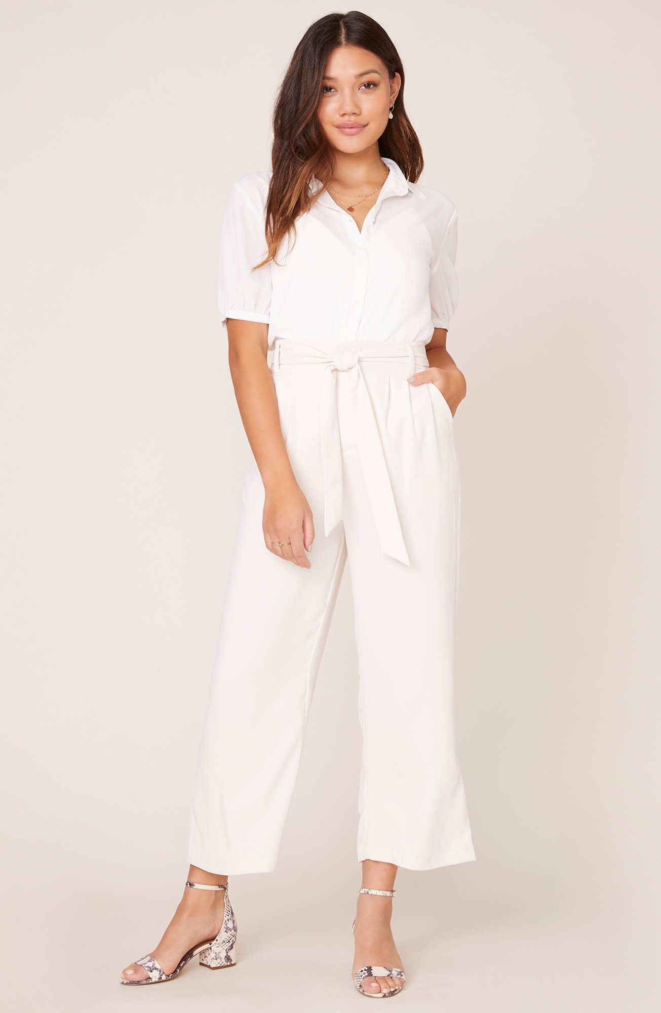 BB Dakota Go With The Flow Pearl Cropped Pant