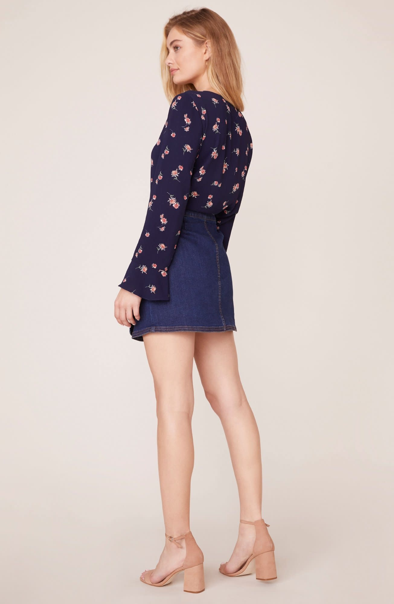 BB Dakota Dream Jeannie Denim Wrap Skirt