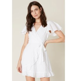 Easy on the Eyelet White Dress