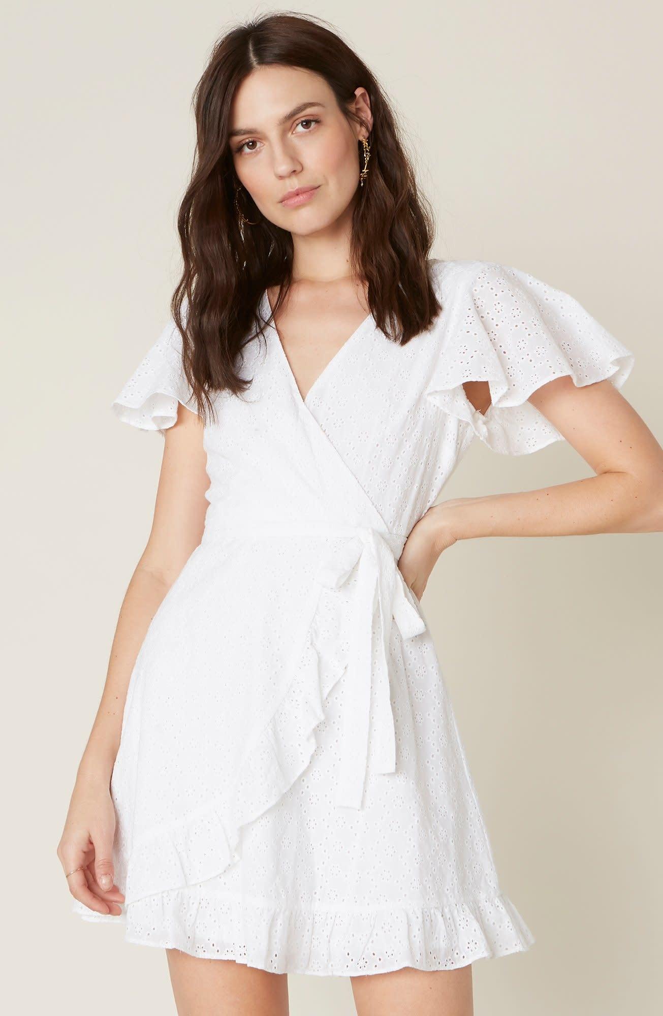 Jack by BB Dakota Easy on the Eyelet White Dress