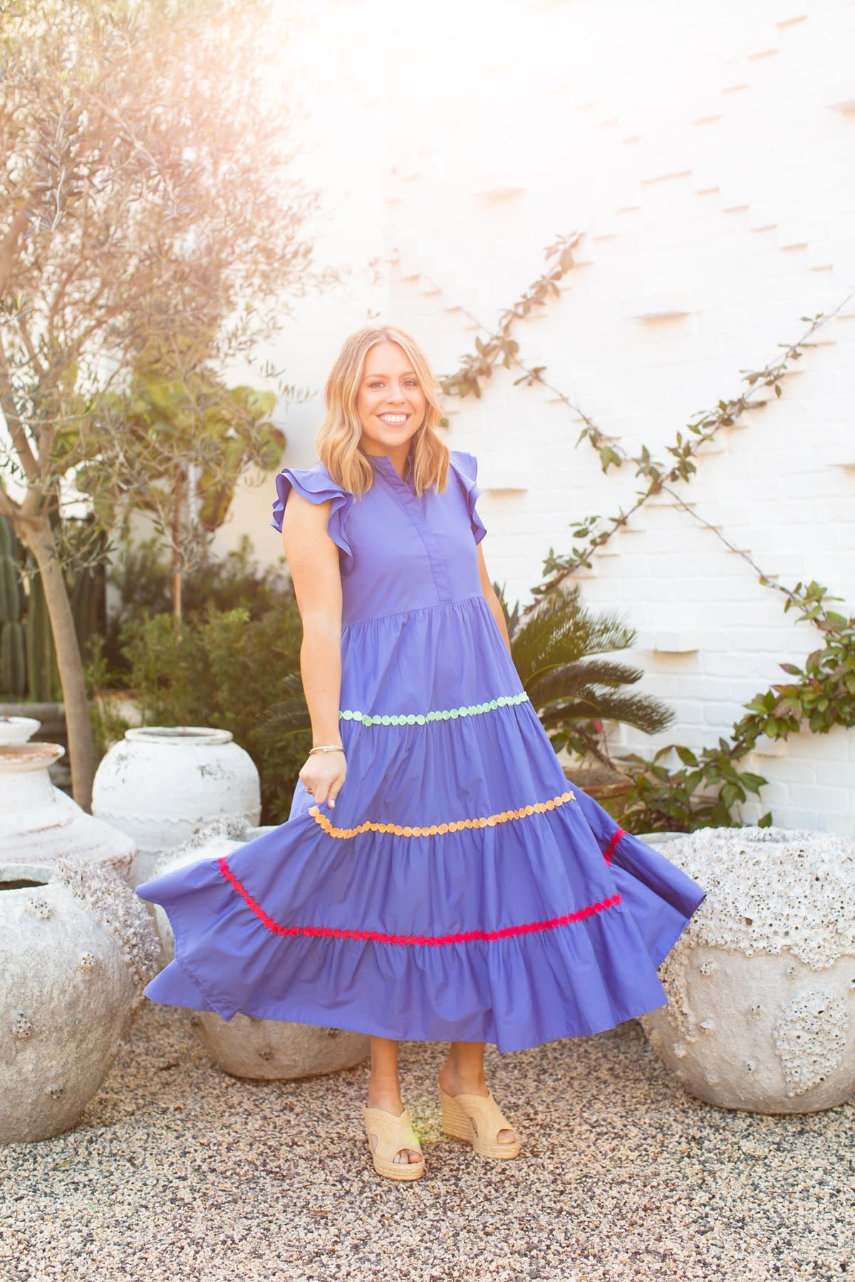 Crosby By Mollie Burch Napa Dress Blue Parrot