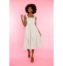 Crosby By Mollie Burch Becca Dress Safari Stripe