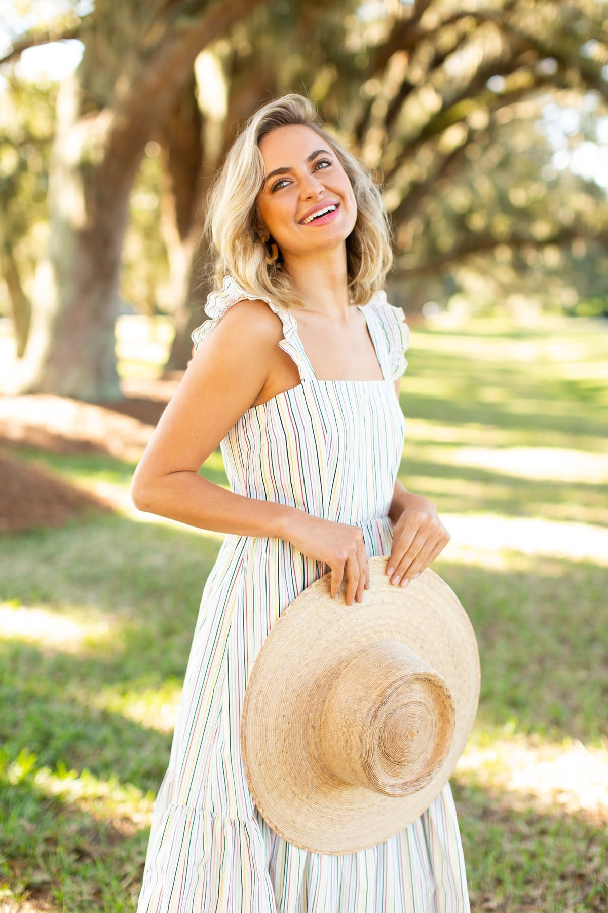 Crosby By Mollie Burch Becca Dress Safari Stripe