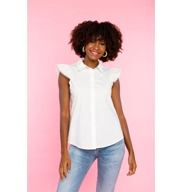 Crosby By Mollie Burch Mitchell top Lily White