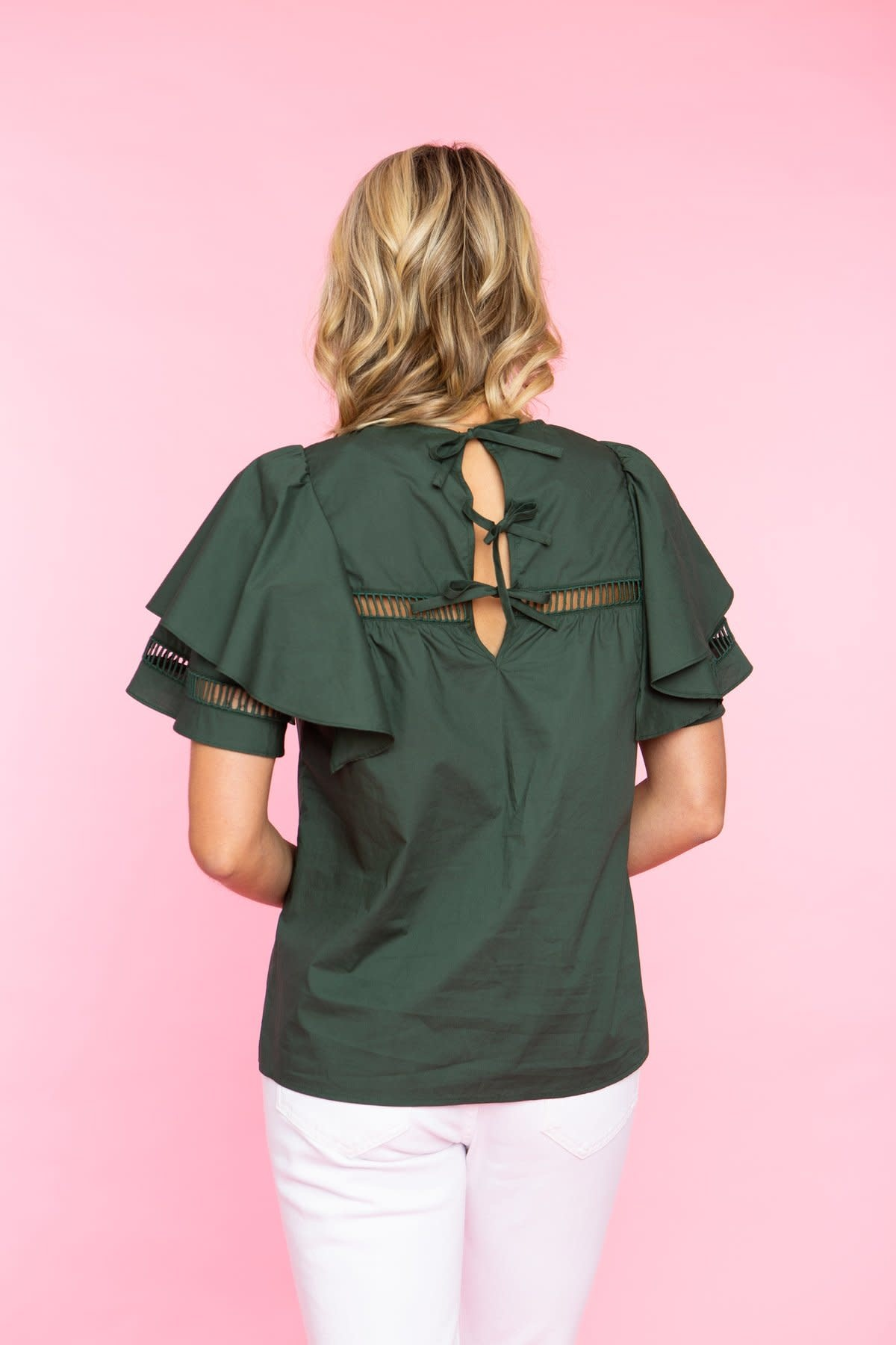 Crosby By Mollie Burch Evans Top Rainforest