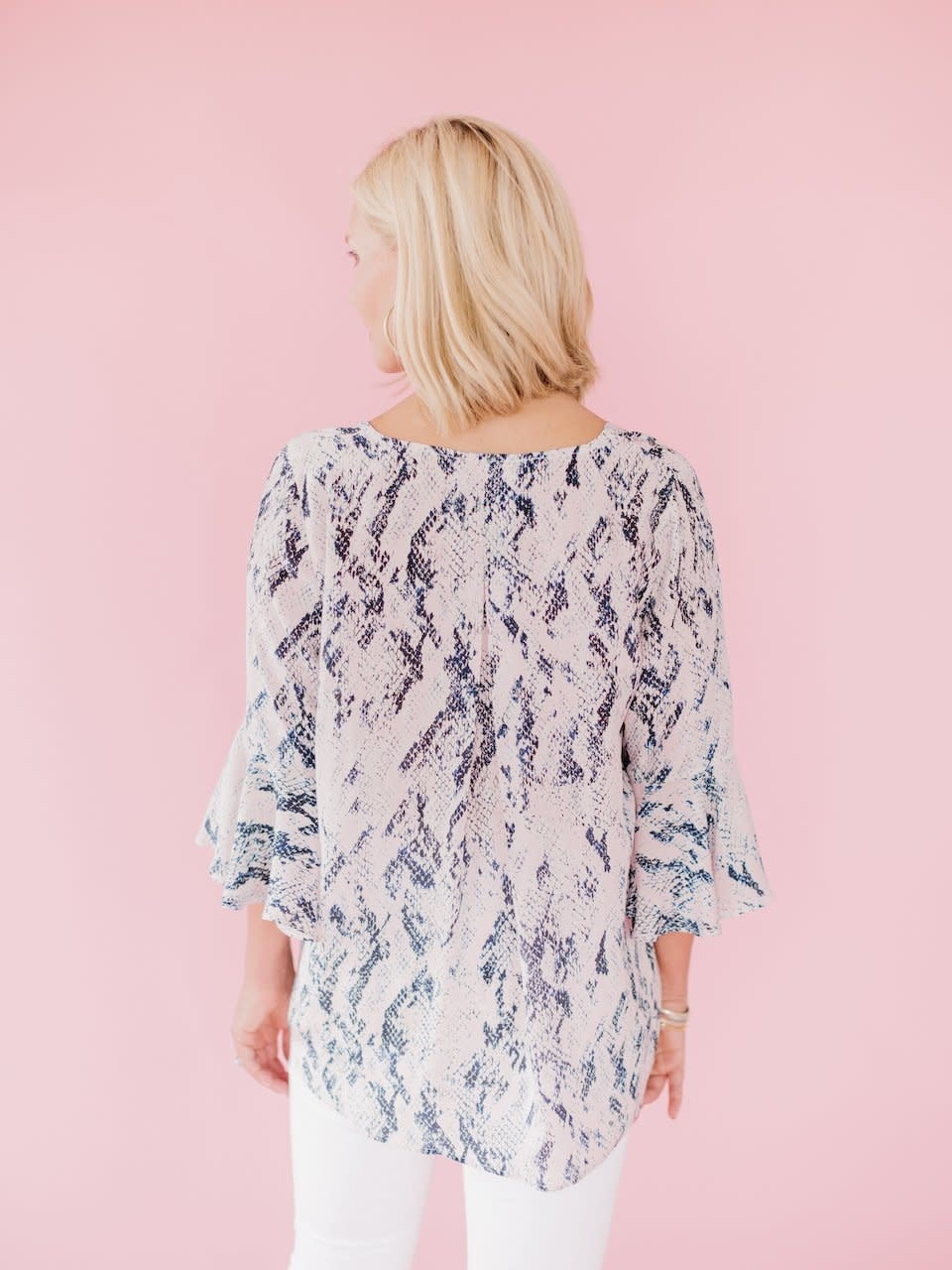 La Roque Park Top in Blush Python