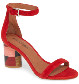 Jeffrey Campbell Purdy Red Suede Cube Heel