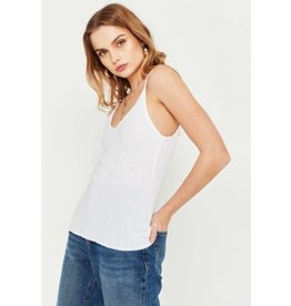 Project Social T Sunny Double V White Tank