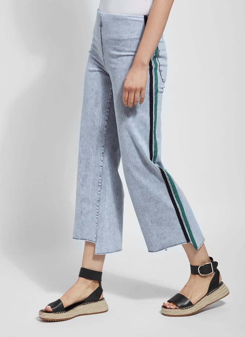 Lysse Emilia Light Grey Wide Leg Crop