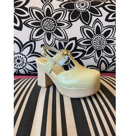 Jeffrey Campbell Nymph Cream Patent Clog