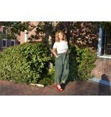 MINKPINK Sage Khaki Linen Trousers