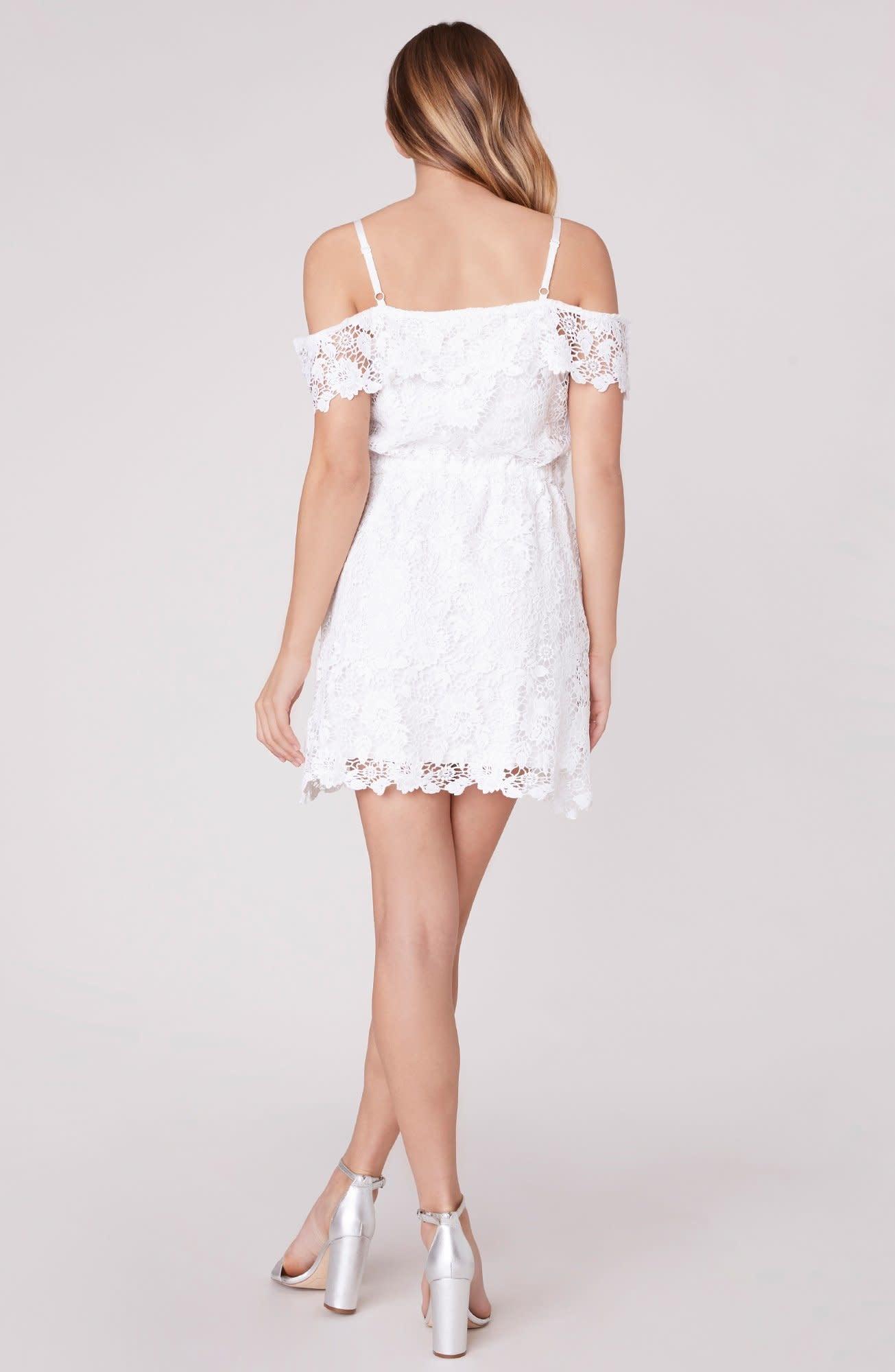 BB Dakota Take me Downtown Cold-Shoulder Dress