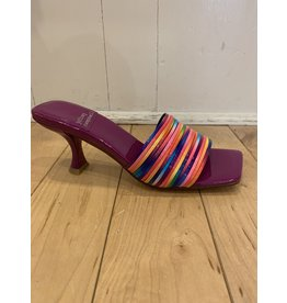 Jeffrey Campbell Mr Big Rainbow Purple Slides