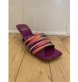 Jeffrey Campbell Mr Big Rainbow Purple Slides