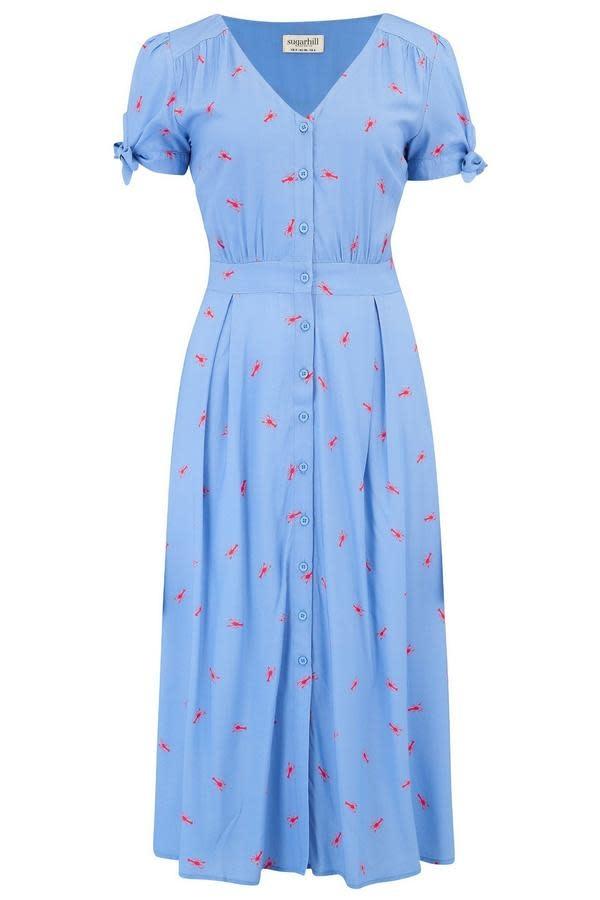 Sugarhill Brighton Hermione Hot Lobster Midi Dress